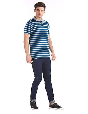 Ruggers Slim Fit Stripe Polo Shirt