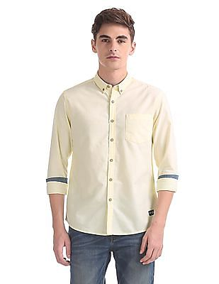 Flying Machine Regular Fit Button-Down Collar Shirt