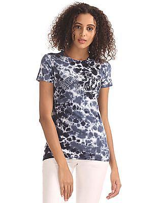 Aeropostale Tie And Dye Regular Fit T-Shirt