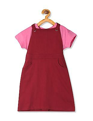 Cherokee Girls Dungaree And T-Shirt Set
