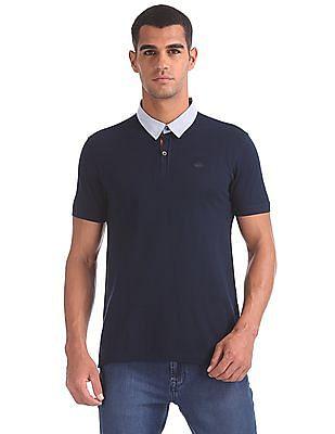 Arrow Sports Regular Fit Checked Collar Polo Shirt