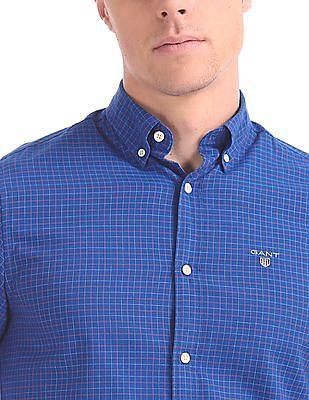 Gant Herringbone Pattern Regular Button Down Shirt