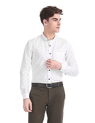 Flying Machine Slim Fit Cutaway Collar Shirt