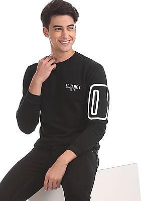 Ed Hardy Black Crew Neck Solid Sweatshirt