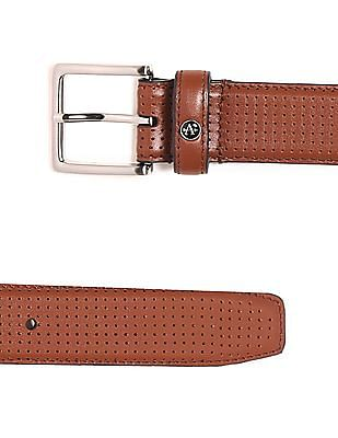 Arrow Perforated Leather Belt