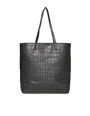 Cherokee Croc-Effect Textured Tote Bag