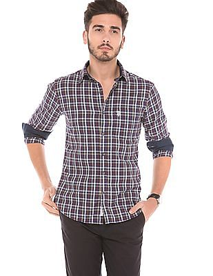 U.S. Polo Assn. Tailored Fit Plaid Check Shirt