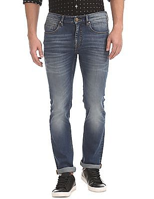 Arvind Skinny Fit Stone Washed Jeans