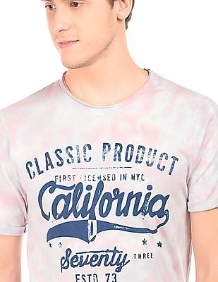 Cherokee Tie Dye Printed T-Shirt