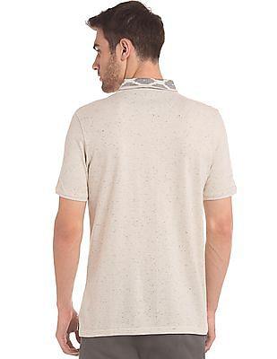 True Blue Slim Fit Patterned Knit Polo Shirt