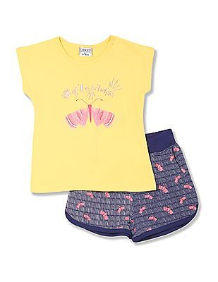 Cherokee Girls Top And Shorts Set