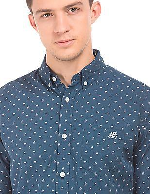 Aeropostale Sailboat Print Regular Fit Shirt
