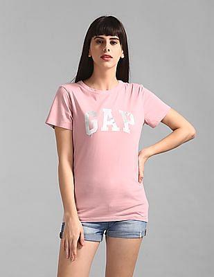 GAP Pink Short Sleeve Foil Logo T-Shirt