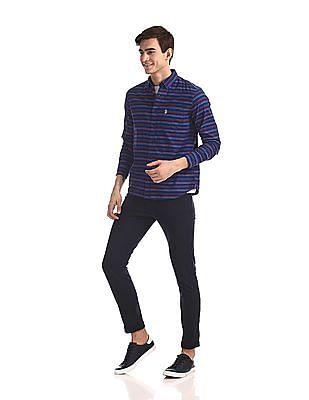 U.S. Polo Assn. Button Down Collar Striped Shirt