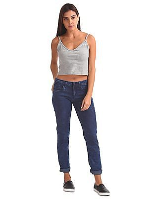 Flying Machine Women Skinny Fit Enzyme Wash Jeans
