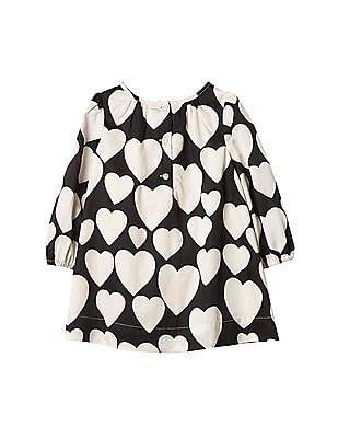 GAP Baby Hearts Long Sleeve Dress