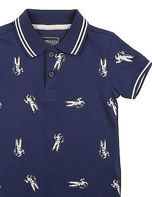 Cherokee Boys Astronaut Print Polo Shirt