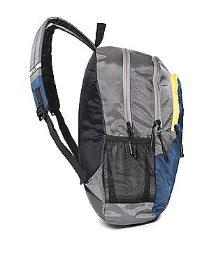 Flying Machine Colourblocked Polyester Backpack