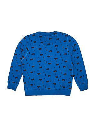 Cherokee Boys Crew Neck Printed Sweatshirt