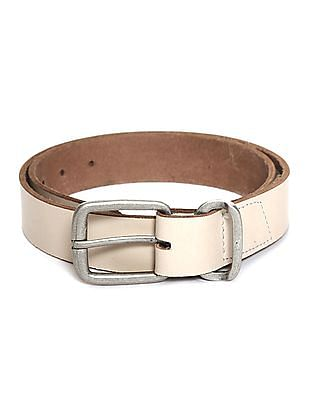 Flying Machine Metallic Buckle Leather Belt