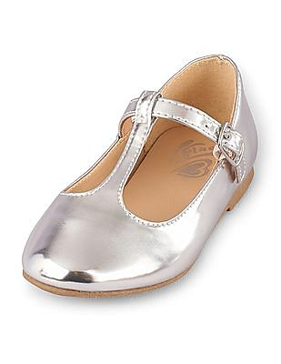 The Children's Place Baby T-Strap June Belly Shoes