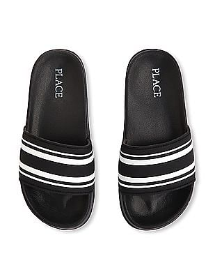 The Children's Place Boys Sport Striped Slides