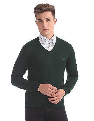 Gant Washed Merino Wool V-Neck Sweater