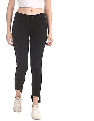 U.S. Polo Assn. Women Black Skinny Fit Mid Rise Jeans