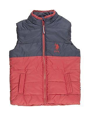 U.S. Polo Assn. Kids Boys Colour Block Gilet Jacket