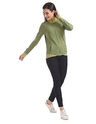 U.S. Polo Assn. Women Standard Fit Solid Sweatshirt