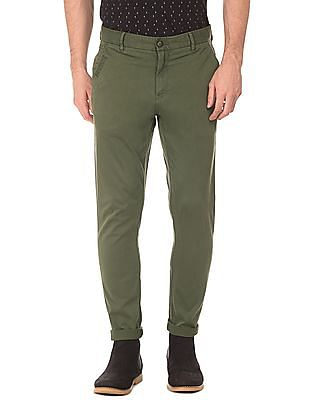 Ed Hardy Slim Fit Cotton Twill Trousers