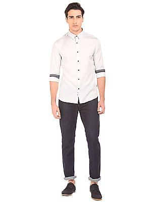 Flying Machine French Placket Slim Fit Shirt