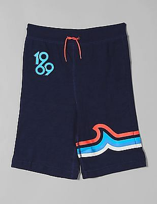 GAP Blue Boys Pull On Shorts In Jersey
