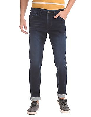 U.S. Polo Assn. Denim Co. Slim Tapered Fit Dark Washed Jeans
