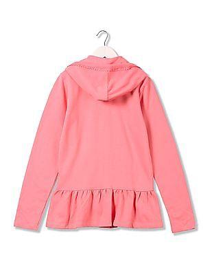 U.S. Polo Assn. Kids Girls Hooded Sweatshirt