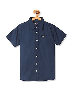 FM Boys Solid Cotton Shirt