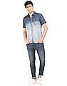 Flying Machine Slim Fit Stone Wash Shirt