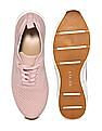 Stride Pink Round Toe Mesh Knit Sneakers