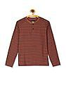 Cherokee Boys Striped Henley T-Shirt