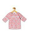Donuts Girls Floral Print Rear Placket Tunic