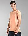 GAP Orange Vintage Slub Jersey Henley T-Shirt