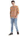 Ruggers Round Neck Striped Sweater