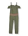 The Children's Place Girls Sleeveless Embroidered Cold-Shoulder Jumpsuit