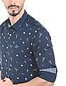 Flying Machine Graphic Printed Slim Fit Shirt
