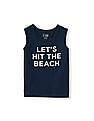The Children's Place Toddler Boy Blue Sleeveless Statement Active Tank Top