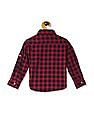 U.S. Polo Assn. Kids Red Boys Button Down Collar Check Shirt