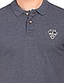 Flying Machine Slim Fit Grindled Polo Shirt