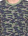 Cherokee Crew Neck Camouflage Print Sweatshirt