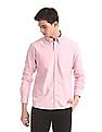 Arrow Sports Pink Slim Fit Oxford Shirt
