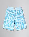 GAP Blue Toddler Boy Print Pull On Shorts In Stretch Jersey